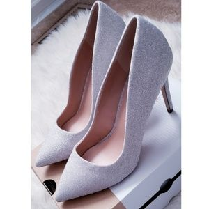 Call It Spring Gorgeous Platinum Silver Heels